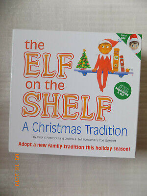 Elf on the Shelf A Christmas Tradition Boy Blue Eyed Elf Doll and Book Set - NEW