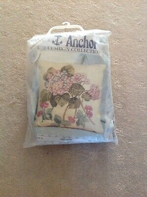 Coats Semco Vintage Anchor Tapestry Cushion Kit RARE Embroidery Hydrangeas