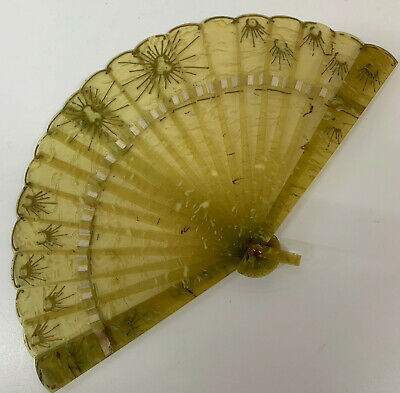 Antique Celluloid Fan early 20th century small girls 14.5cm
