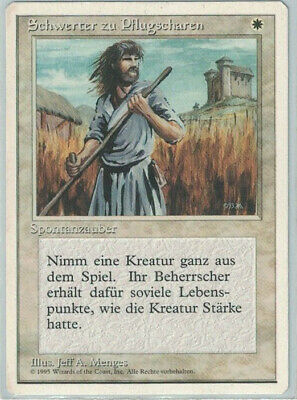 4ED German SWORDS TO PLOWSHARES 1x Rare Magic 4th Fourth MTG EX Excellent
