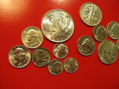 Not Junk Drawer Lot Of Bu  Silver Coins & Others 1923-1956