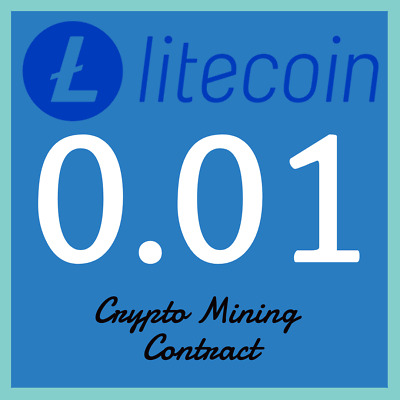 Litecoin 0.01 LTC | MINING CONTRACT | Crypto Currency | Top 6 Coinmarketcap