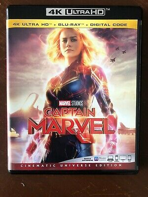 Captain Marvel: 4K Ultra HD Blu-ray with Case (No Blu-Ray or Digital) Like New!