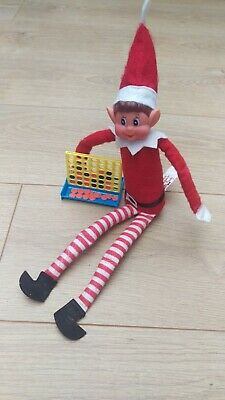 Elf Mini Connect 4 in a row Game Toy Prop on a Shelf with the Elf Behaving Badly