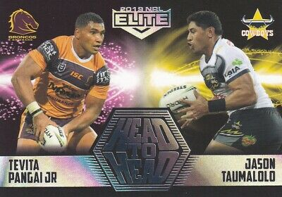 2019 NRL ELITE HEAD TO HEAD - HH1 TEVITA PANGAI JR vs JASON TAUMALOLO  #32 OF 61