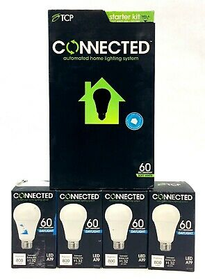 TCP Connected Automated LED Home Lighting System Starter Kit + 4 Extra Bulbs