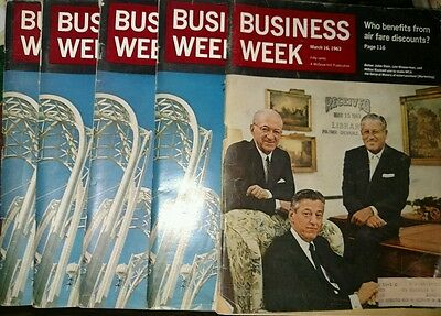 Lot of 5 Business Week Magazines How Will Kennedy Use His Victory 1962 & 1963