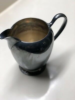Vintage Onieda Silver Plated Water Pitcher With Ice Catcher w/ Floral Design