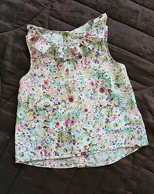 Next Girls Floral Summer Top Size 3-4 Years