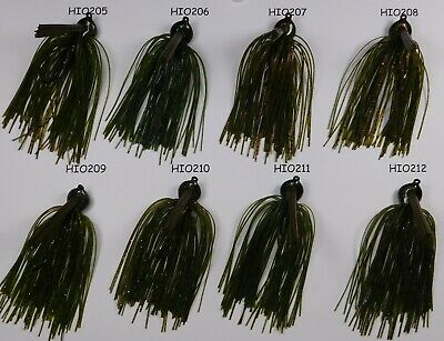 Bob4Bass Heavy Wire DC Arky Skirted Jig w//Tail w//Gamkatsu Hook