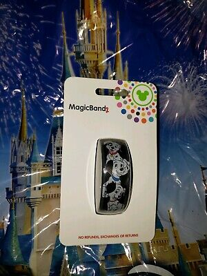 Disney Parks 101 DALMATIANS Black Magic Band Magicband 2 New Lucky