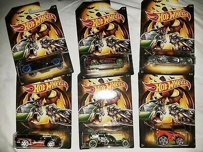 NEW Hot Wheels Halloween Edition set of 6 die cast cars