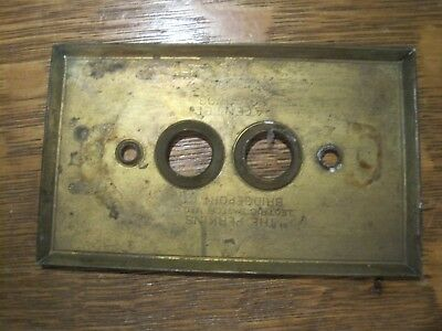 "Vintage ""Perkins"" Push Button Light Switch BRASS COVER SINGLE PAT 03"