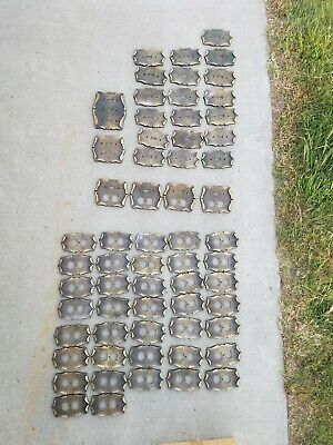 62pc LOT  AMEROCK CARRIAGE HOUSE Outlet / Switch Covers XLNT Vtg AMEROCK Brass