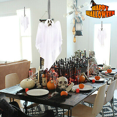 "Halloween Decorations 3 Wicked Creepy 25.5"" Hanging Flying Ghosts Yard Decor"