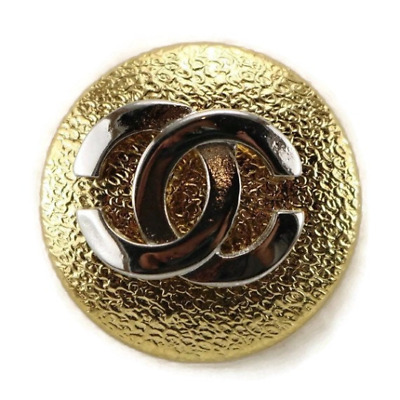 Vintage gold silver Chanel look button in 3 sizes
