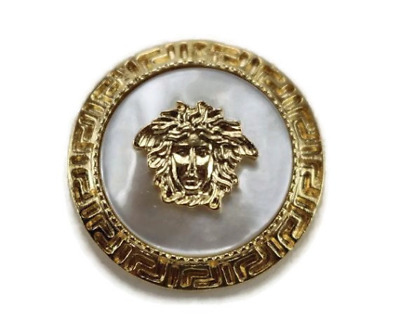 Mother of pearl gold Versace medusa head button