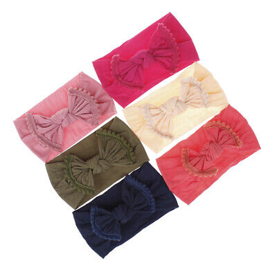 Fashion Girl Kid Baby Big Bow Hairband Headband Stretch Turban Knot Head Wrap
