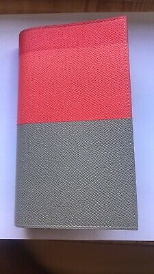Auth HERMES Agenda Vision II Bicolor Handbook cover Leather K81017138 [PD3]