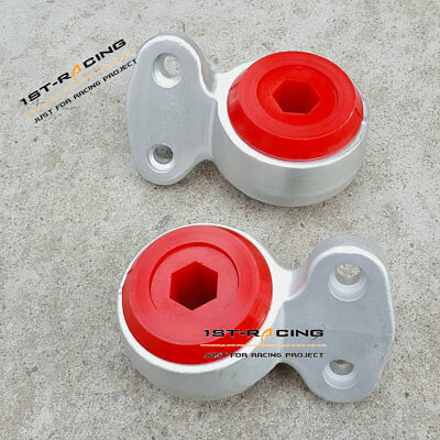 RED Front Lower Control Arms Bushing Kit FITS BMW E46 323i 325i 328i 330Ci L+R