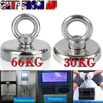 66KG 30KG Recovery Magnet Hook Strong Sea Fishing Diving Treasure Hunting AUS
