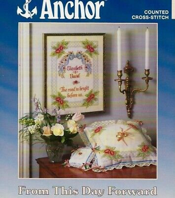 From This Day Forward Wedding Sampler Cross Stitch Leaflet - Anchor