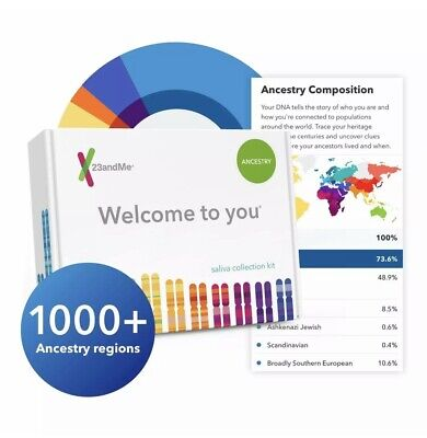23andMe Personal Ancestry DNA Test Kit - Genetic History - Lab Fee Included NEW