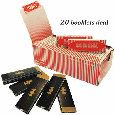 """Moon Red 1.0"""" 20 booklets 70*36mm Cigarette Rolling Papers Wood Papers & MDIAION"""