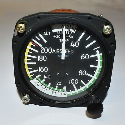 "True Airspeed Indicator, 3 1/8"" 40-210 Knots 8125B.410"