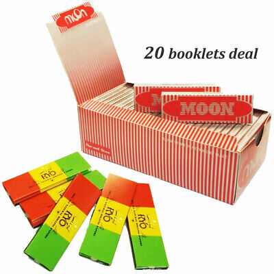 """Moon Red 1.0"""" 20 booklets 70*36mm Cigarette Rolling Papers Wood Papers & BOBLOVE"""