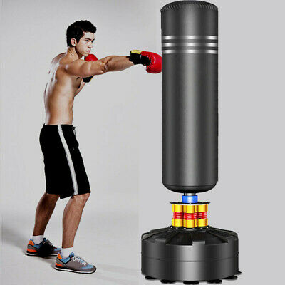 5.7FT Heavy Duty Free Standing Boxing Punch Bag Indoor Martial Art Training Kick