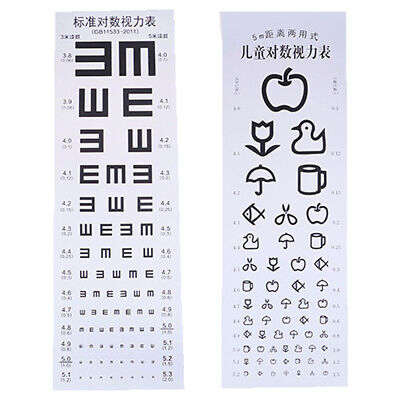 Wallmounted Waterproof Eye Chart Testing Cahrt Visual Testing Chart for Hospi PM