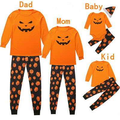 2019 Halloween Family Matching Pajamas Set Adult Kid Baby Sleepwear Nightwear UK