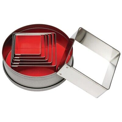 Vogue Square Cutters 6 Piece