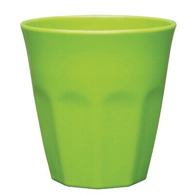 Kristallon Melamine Beaker Green - 88(dia)x90(h)mm 290ml 10oz (Box 6)