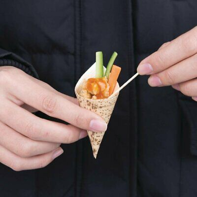 Fiesta Green Bamboo Bark Cone - 35mm(dia) x 80mm (Pack 200)