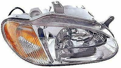 KI2503105 Fits 1998-2001 KIA Sephia Passenger Side Headlight Bulbs Incl.