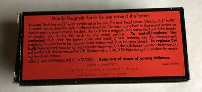 Avon handy torch with magnet attachment and rotating head