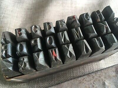 Vintage Boxed Complete Alphabetical Punch Set Steel Letter Stamps Hand Made