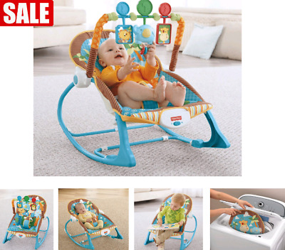 Infant To Toddler Rocker Bouncer Seat Baby Chair Sleeper Swing Jungle Fun