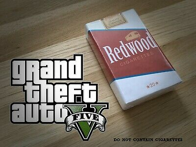 RedWood dummy Cigarettes pack GTA V real life Grand Theft Auto 5 Rockstar Games