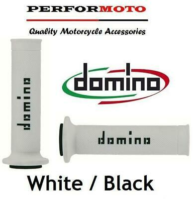 Domino RR Grips White / Black To Fit Yamaha YZF600 R6