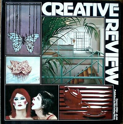 CREATIVE REVIEW MAGAZINE JANUARY 1984 Fashion retailers, Designer's offices +++