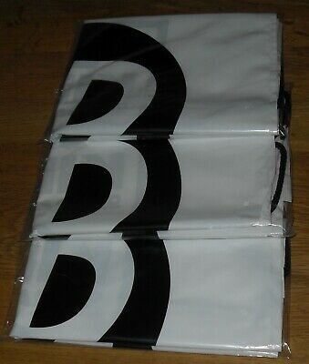 3 Pack White JD Sports Drawstring Bags   -NEW IN SEALED BAGS-