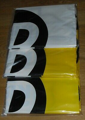 3 Pack JD Sports Drawstring Bags 1 x White / 2 x Yellow   -NEW IN SEALED BAGS-