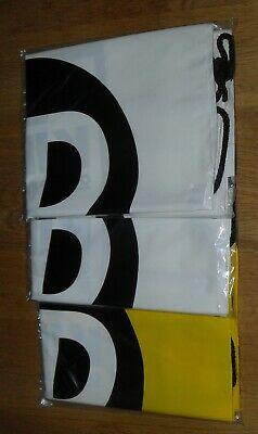 3 Pack JD Sports Drawstring Bags 2 x White / 1 x Yellow   -NEW IN SEALED BAGS-