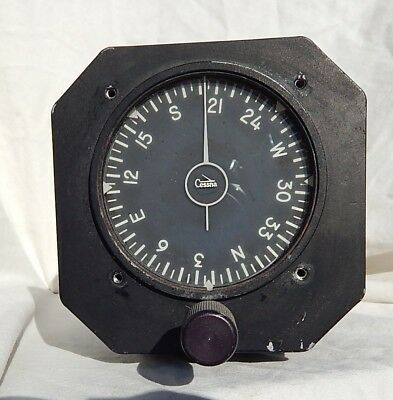 1966 Dated Cessna Marked Directional Gyro Compass Indicator Gauge Instrument
