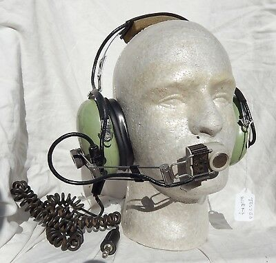 Pilot's David Clark Headset with Boom Microphone, Tested Okay