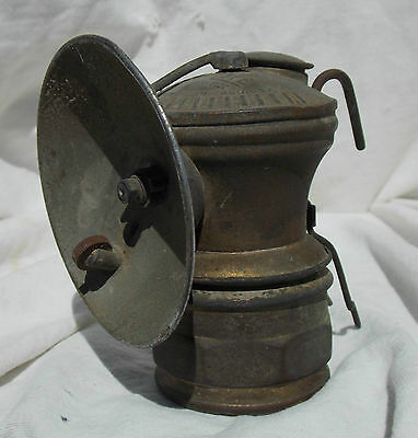 Alaska Klondike Gold Rush Miners Auto-lite Brass Carbide Hat Light or Lamp