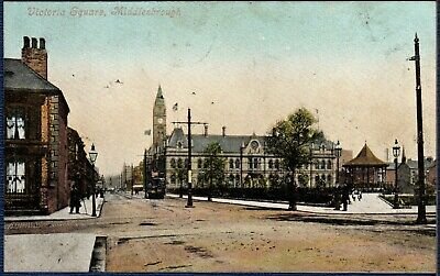 Postcard ~ VICTORIA SQUARE in MIDDLESBROUGH MIDDLESBOROUGH ~ Early